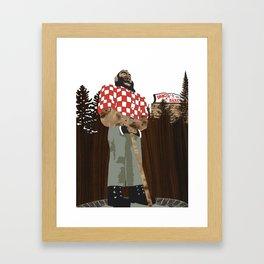 Paul Bunyan Statue (and Dancing Bare stripclub), Portland Oregon Framed Art Print