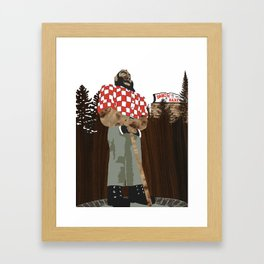 Paul Bunyan Statue (and Dancing Bare stripclub), Portland Oregon Framed Art Print