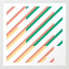 Calypso Stripes Art Print