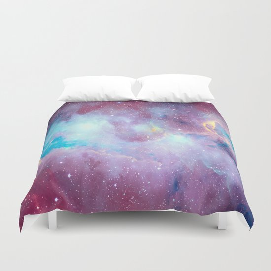 Quartz & Turquoise Galaxy Duvet Cover