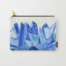 Sapphire Watercolor Facets Carry-All Pouch