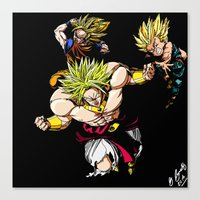 dragonball z Canvas Prints featuring Broly Dragonball Z by bernardtime