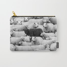 Different is 'Okay' Black Sheep of the Family black and white photograph Carry-All Pouch
