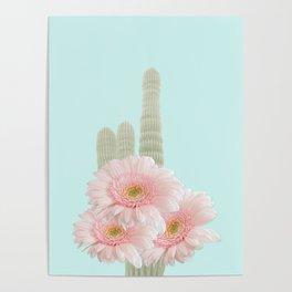 Cactus Flowers Bouquet Poster