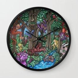 Creatures at Nite Wall Clock