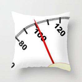 100 Pounds Throw Pillow