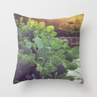 southwest Throw Pillows featuring Southwest Sunset by The Dreamery