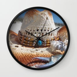 Cowgirl Beach Bum Wall Clock