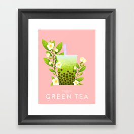 Bobalicious Green Tea Framed Art Print