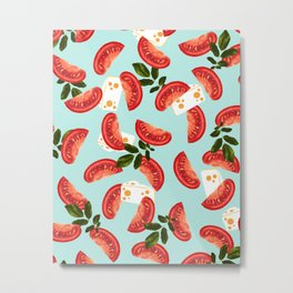 Caprese #society6 #decor #pattern Metal Print