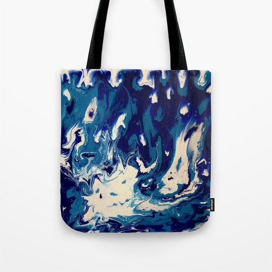 MIDNIGHT BLUE MARBLE #2 Tote Bag