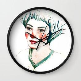 Girl of my imagination Wall Clock