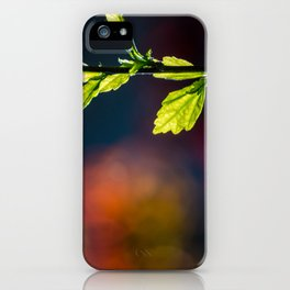 Leaves in a colorful world iPhone Case