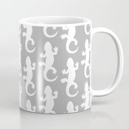 Whtie and Grey Lizard Coffee Mug