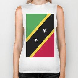 Saint Kitts and Nevis flag emblem Biker Tank