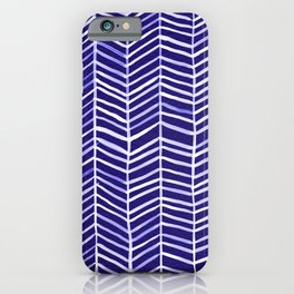Herringbone – Navy & White iPhone Case