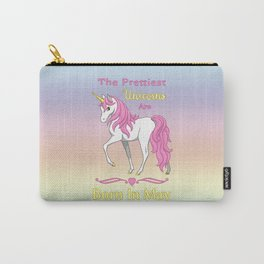 Pretty Pink Unicorn May Birthday Girl Carry-All Pouch