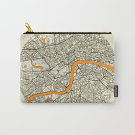 London Map Moon Carry-All Pouch