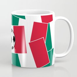 Flag of Mexico Football Coffee Mug