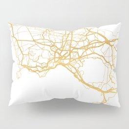 NAPLES ITALY CITY STREET MAP ART Pillow Sham
