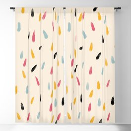 Abstract Colorful Retro Colored Rain Drops - Imugi Blackout Curtain