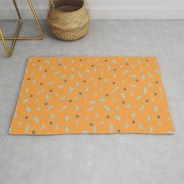 Orange Confetti Polka Dots Rug