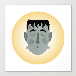 Frank the Happy Monster Canvas Print