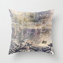 BK QUANTUM ABSTRAKT Throw Pillow