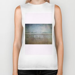 You and me, by the sea Biker Tank