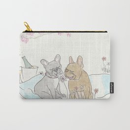 French Bulldogs Romantic Picnic Illustration Carry-All Pouch