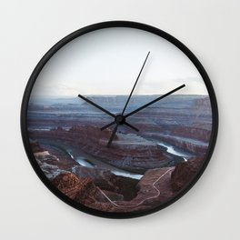 Sunset at Deadhorse Point State Park Wall Clock