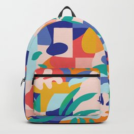 Amalfi Abstraction Pattern / Colourful Modern Shapes Backpack