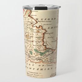 Map Of Berkshire 1758 Travel Mug