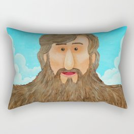 Jim's Amazing Beard Rectangular Pillow