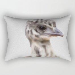 Baby Emu Print, Australian Animal, Baby Animal Prints, Baby Animals, Emu Print, Nursery Animals, Nursery , Baby Emu, Emu Rectangular Pillow