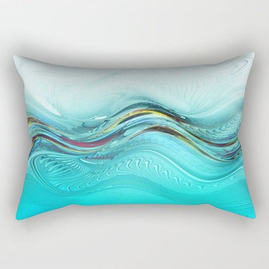 Fractal Wave Rectangular Pillow