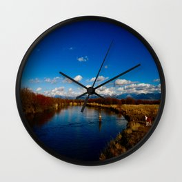 Snake River Fly Fishing Wall Clock