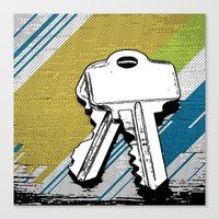 black keys Canvas Prints featuring Keys by magnez2