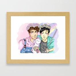 Pastel Dan and Phil Framed Art Print