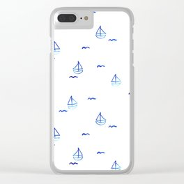 Watercolor Pattern Summer Collection by #MahsaWatercolor Clear iPhone Case