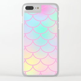 Marshmallow Mermaid Clear iPhone Case