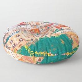 Positano, beauty of Italy Floor Pillow