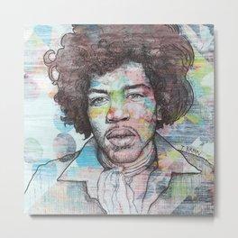 Jimi Hendrix - Can You See Me Metal Print