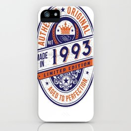Made-In-1993-Birthday-T-Shirt-24th-Birthday-Gift-Idea iPhone Case