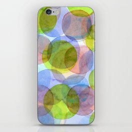Green Red Blue Circles iPhone Skin