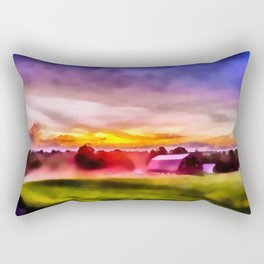 Day is Done on the Farm Rectangular Pillow