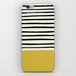 Mustard Yellow & Stripes iPhone Skin