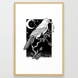 Night Crow Framed Art Print