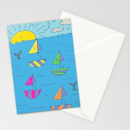 1234 sail away Stationery Cards