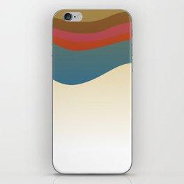 Fashion zigzag lines pink blue Elements iPhone Skin